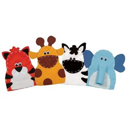 Value Felt Puppet Kit-Safari Pals