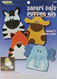The New Image Group Value Felt Puppet Kit: Safari Pals