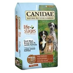Canidae Life Stages Duck Meal Brown Rice & Lentils Large Breed Puppy Food, 15 lbs.