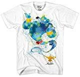 Aladdin Genie Ink Blob Alladin Lamp Movie Disney World Disneyland Funny Mens Adult Graphic Tee T-Shirt Apparel (Large)