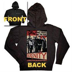 Joss Whedon Serenity Space Pirates Men's Zip Front Hooded Sweatshirt