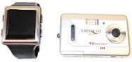 Vistaquest  V700-champagne 7 Megapixel Digital Camera (2.4-inch Lcd Display) & Wristvu Photo Watch ( 1.5-inch Cstn Digital Color Panel) - Records Video -  Champagne (silver)