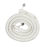 """15 Foot White Coil Cord Brand New, This AT&T 615 15 Ft"