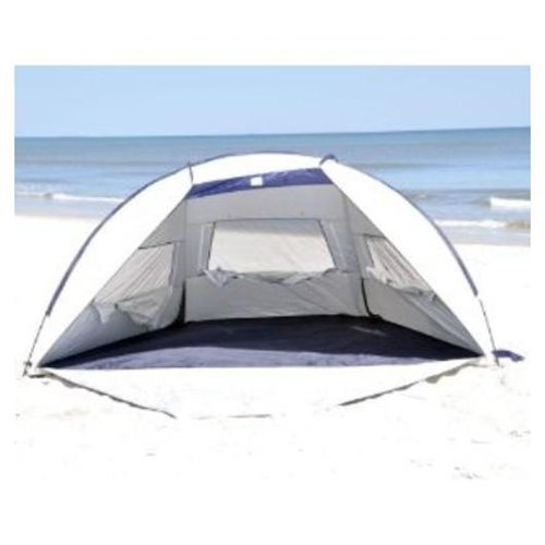 Jumbo Deluxe Beach Shelter with Ventilation Panels and Door - UPF 120