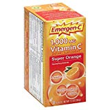 Emergen C Super Orange Berry Health and Energy Booster Fizzy Drink Mix, 1000 Mg - 30 packet per pack -- 3 packs per case.