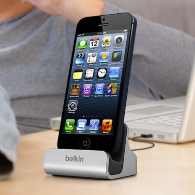 Belkin F8j045bt Charge   Sync Dock - Docking Station - For Apple Iphone 5  5c  5s  6  Ipod Touch (5g)