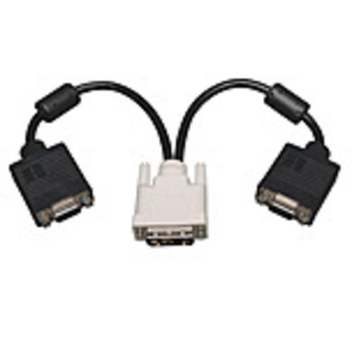 Tripp Lite P120-001-2 Dvi To 2 X Vga Splitter Cable - Black