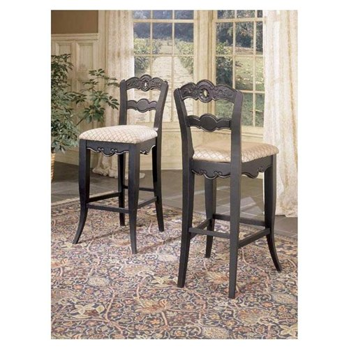Hills of Provence 30 Black Barstool