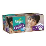 Pampers Cruisers Diapers Size 7 Economy Pack Plus, 100 Count