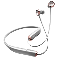 Sol Republic Shadow Earset - Stereo - Rich Gray, Rose - Wireless - Bluetooth - 30 Ft - Earbud, Behind-the-neck - Binaural - In-ear 1140-04