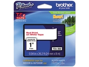 Brother TZE252 TZe Standard Adhesive Laminated Labeling Tape, 1w, Red on White