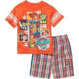 Paw Patrol Baby Toddler Boy Tee and Shorts Outfit Set (4T)