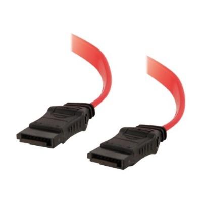 Cables To Go 10154 Sata Cable - 7 Pin Sata (f) - 7 Pin Sata (f) - 3 Ft - Translucent Red