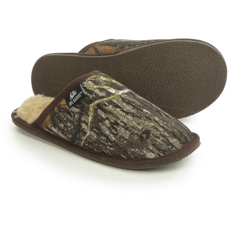 Mandf Western Double Barrel Slide Slippers - Fleece Lined (for Men)