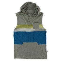Ecko Unltd. Mens Tonic Slvls Hooded Henley Shirt ltgrydst L