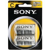 SONY S-SUM1NUB2A Heavy-Duty Carbon Zinc Batteries D, 2 Pack