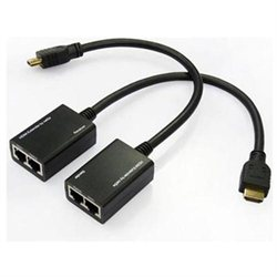HDMI Extender Cable HDMI DVI Cat5 Cat 5e/6 UTP AV Extender Balun Repeater 100 Feet (30 Meters)