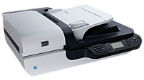The HP Scanjet N6350 Networked Document Flatbed Scanner is a robust scanner featuring integrated networking