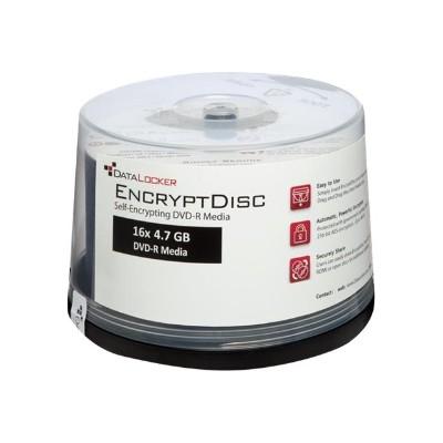 Data Locker Dldvd50 Encryptdisc - 50 X Dvd-r - 4.7 Gb 16x - Ink Jet Printable Surface