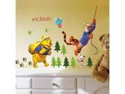 The Pooh Tigger Jungle Adventure   Can Remove Children Bedroom Adornment Wall Stickers 711