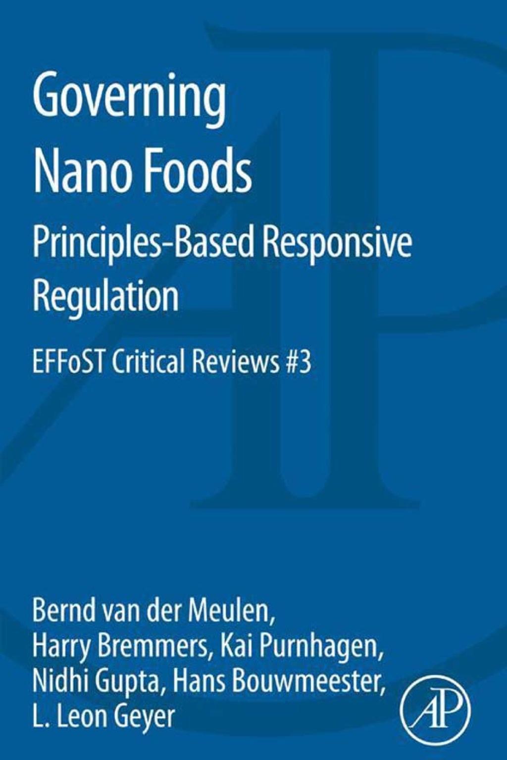 By Meulen,  Bernd van der; Bremmers,  Harry; Purnhagen,  Kai; Gupta,  Nidhi; Bouwmeester,  Hans; Geyer,  L