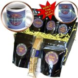 cgb_19940_1 Perkins Designs Surreal - Mirror Ball reflecting mirror disco ball dances in the atmosphere above Earth - Coffee Gift Baskets - Coffee Gift Basket