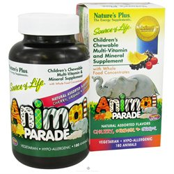 Nature's Plus Animal Parade, Children's Chewable Multi-Vitamin & Mineral Supplement 180 ea