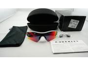 Oakley Oo9051 09 757 Radar Path Sunglasses - Polished Fog Frame - Positive Red Iridium 33mm Lenses