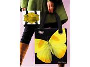 Coynes Company COYNESHF5312 Modern Tote Yellow Butterfly Med