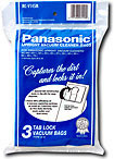 Panasonic Mc-v145ms 3-pack Of Upright Vacuum Bags