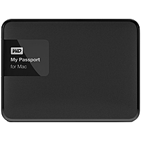 Wd My Passport For Mac 2 Tb Usb 3.0 Secure Portable Drive With Auto Backup - Usb 3.0 - Portable - Silver, Black - 256-bit Encryption Standard Wdbcgl0020bsl-nesn