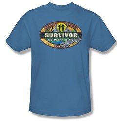 Mens SURVIVOR Short Sleeve REDEMPTION ISLAND Large T-Shirt Tee