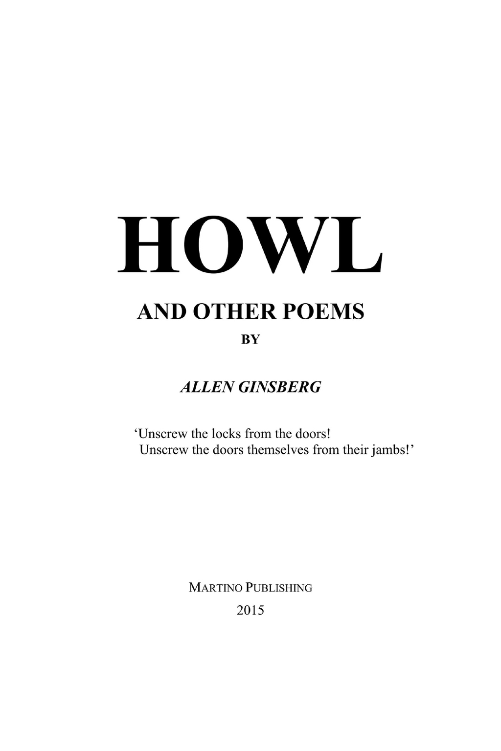 Howl  And Other Poems (ebook)