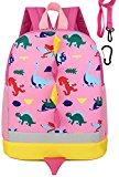 Children Kid Backpack Little Girl Preschool with Leash Pink Dinosaur Zoo Strap