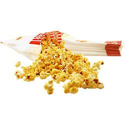Paper Popcorn Concession Bags - Set of 100: 100 Large Bags