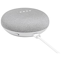 Google Home Mini Smart Speaker - Wireless Speaker(s) - Chalk - 360? Circle Sound - Wireless Lan - Bluetooth - Voice Command, Multi Device Pairing, Chromecast, Chromecast Audio, Micro Usb Port, Smart Home Hub, Built-in Microphone - Google Assistant Support Ga00210-us