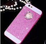 iPhone 5/5s Case-Aurora® Bling Diamond Rhinestone Crystal Case Cover for iPhone 5/5s-Super Slim,Back Bumper Case Cover (Pink)