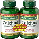 Nature's Bounty Calcium Pills and Vitamin D3 Mineral Supplement, Supports Bone Health, 1200mg, 120 Softgels, 2 Pack