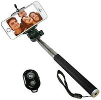 Take better pictures with this iCover IC SELFIE BK Selfie Stick which comes with a Bluetooth remote and compatible for iPhone, Android and most other smartphones