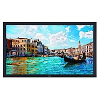 """P NEC's 65"""" V652 commercial grade large screen LCD display utilizes LED backlighting to reduce the product's depth and power consumption when compared to its predecessor"""