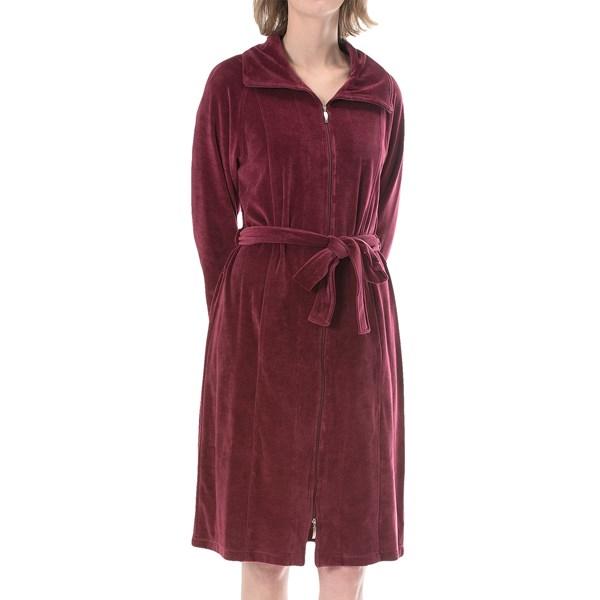 Vossen Nora Bathrobe - Velour, Full Zip, Long Sleeve (for Women)