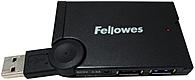 Fellowes Usb Hub - 4 Port - Mini 077511985355 - 4 X 4-pin Type A Usb 1.1 Female, 1 X Usb Type A Usb Male - External
