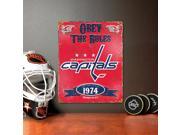 Washington Capitals Vintage Metal Sign