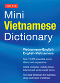 It's never a good idea to be overly–relient on technology while traveling!  Look up words quickly and easily with this great little Vietnamese dictionary. Tuttle Mini Vietnamese Dictionary is ideal for any application where a handy and portable dictionary is required