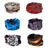 Bundle Monster 6pc Multifunctional Seamless Style Bandanna Hairband Headwear Scarf Neck Wrap Beanie Cap Lot - Set 2