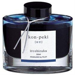 Pilot Iroshizuku Bottled Fountain Pen Ink, Kon-Peki, Deep Blue, Turquoise Blue (69212) By Pilot