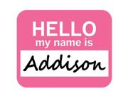 Addison Hello My Name Is Mousepad Mouse Pad