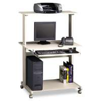 Eastwinds Multimedia Workstation, 36-3/4w X 21-1/4d X 50h, Gray Laminate Top