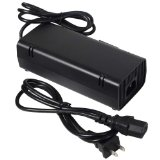 Fosmon 12V AC Adapter Charger Power Supply Replacement For Microsoft XBOX 360 E (Not Compatible with Regular 360 or Slim)