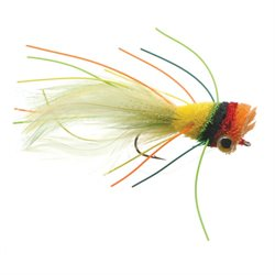 Umpqua Deerhair Bass Bug Fruit Cocktail Fly Fishing Size 2 - 4 Pack